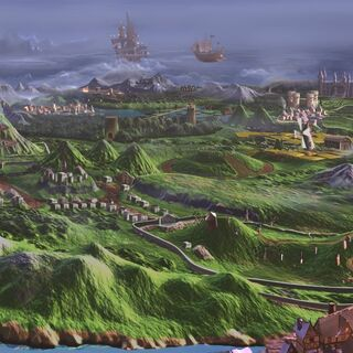 Overview of Gallowmere in <i>MediEvil (1998)</i>.
