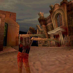 A zombie from an early version of <i>MediEvil 2</i>.