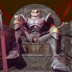 Daniel sitting on a throne. Render by <a href=