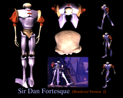 Sir Daniel Fortesque Rendered Version 2