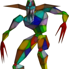Stained Glass Demon's prototype model. Note the shorter claws and lack of heart.