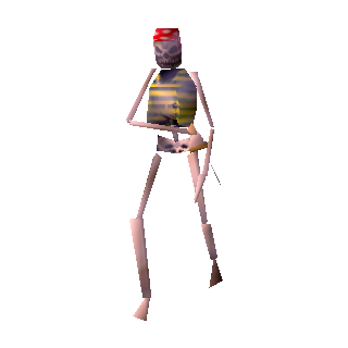 Model of underling crew members in <i>MediEvil</i>.