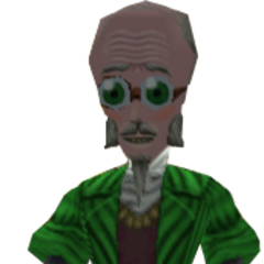 The Professor in-game.