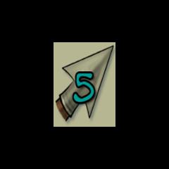 5 arrows.