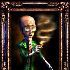 The Professor's portrait.