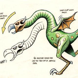 Concept art of the Jabberwocky.