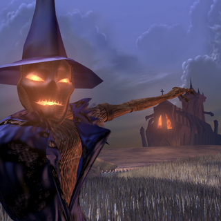 A scarecrow in the 3AV FMV.