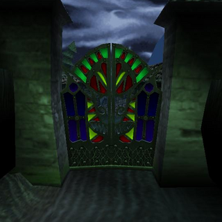 Stained Glass Key opens this gate.