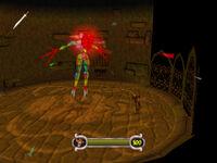 Stainglass Demon Battle