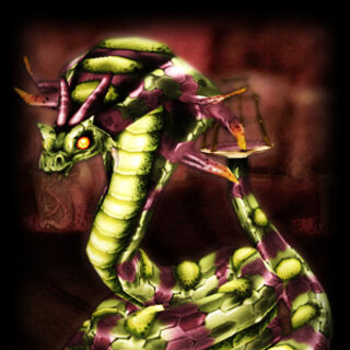 Zarok's serpent form.