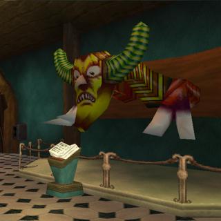 A statue of Zarok's Beast Transformation in <a href=