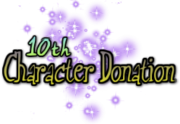 10th Character Donation