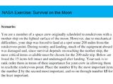 NASA Exercise: Survival on the Moon