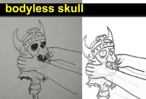 Bodyless skull