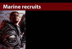 Marine recruitsd