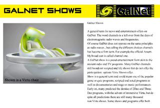 Galnet shows