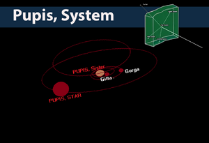 Pupis, Systems