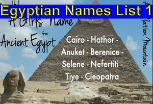 Egyptian Names List 1