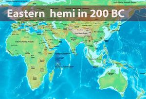Eastern hemi in 200 BC