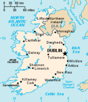Map of rep of ireland