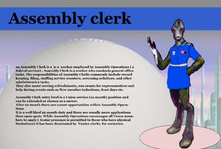 Assembly clerk