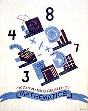 Mathematics WPA poster ca.1938