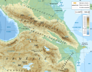 Caucasus map