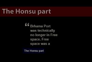 The Honsu part