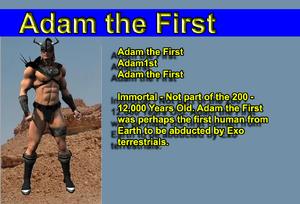 Adam the First1