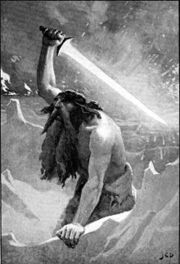 220px-The giant with the flaming sword by Dollman