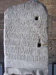 200px-Rome Colosseum inscription 2