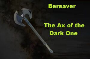 Ax of the dark one