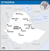 Ethiopia - Location Map