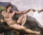 220px-Michelangelo, Creation of Adam 03