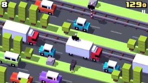 Unity Ads video ads in Crossy Road (iOS)