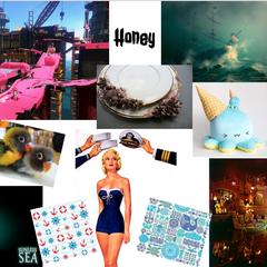 Honey's aesthetic collage.