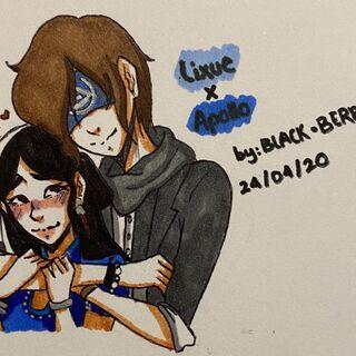 Apollo and his lover Lixue (Credits to Inibi Uchiha)