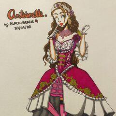 Antoinette's look before.