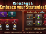 Collect Keys & Embrace your Strategies! Event