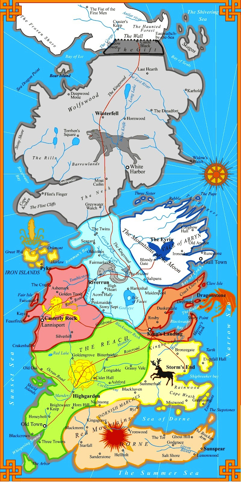 Image map westeros political2g game of thrones chronicles of map westeros political2g gumiabroncs Choice Image