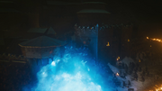 Viserion détruisant Winterfell