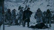 Jon Snow après avoir tué Qhorin Mimain