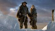 Jon et Ygrid au sommet du Mur (3x06)