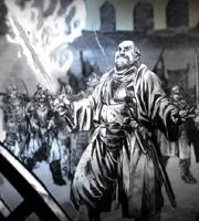 Thoros chargant lors du siège de Pyk