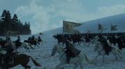 Charge de Stannis contre les sauvageons