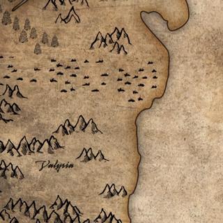 Valrya sur la carte, avant le Fléau