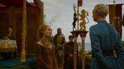 Cersei et Brienne discutent au mariage
