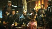 Armeca sur les genoux de Bronn