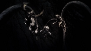 Le Kraken prend le cerf le lion et le loup