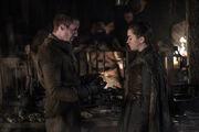 Arya et Gendry 8x01